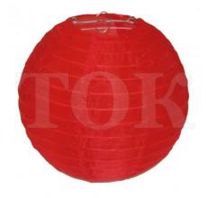 Фонарик из материи однотонный красный 40 см. 0921-8