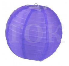 Фонарик из материи однотонный фиолетовый 40 см. 0921-8
