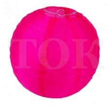 Фонарик из материи однотонный розовый 40 см. 0921-8