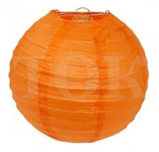 Бумажный фонарик однотонный оранжевый 25 см. 0920-7