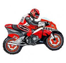 Шар фигурный Flexmetal Мотогонка R 901663R красный
