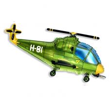 Шар фигурный Flexmetal Вертолет 901667 Зеленый
