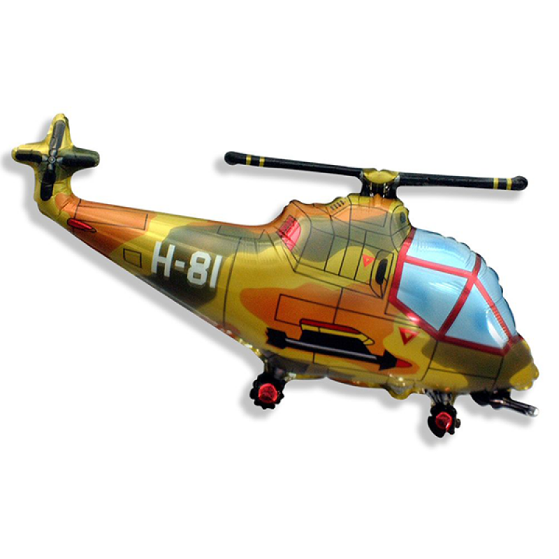 Шар фигурный Flexmetal Вертолет 901667 Милитари
