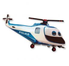 Шар фигурный Flexmetal Вертолет Полицейский 901753