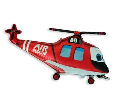 Шар фигурный Flexmetal Вертолет Спасатель 901747