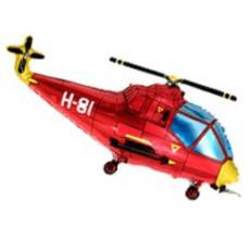 Шар фигурный Flexmetal Вертолет 901667 Красный