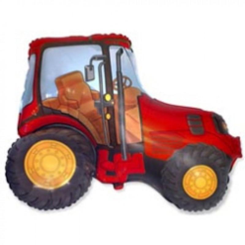 Шар фигурный Flexmetal Трактор 901681 красный