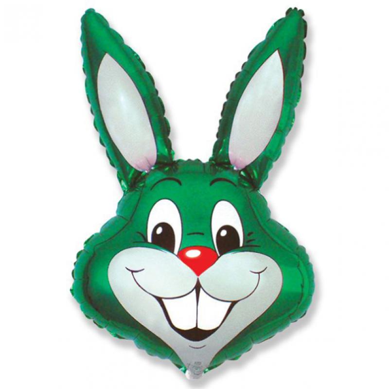 Шар фигурный Flexmetal Заяц зеленый 901589