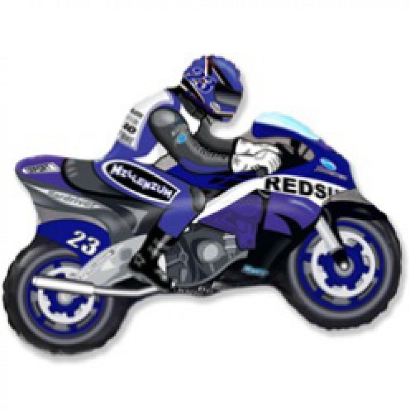Шар фигурный Flexmetal Мотогонка R 901663A синий