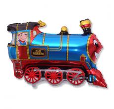Шар фигурный Flexmetal Поезд 901689 синий