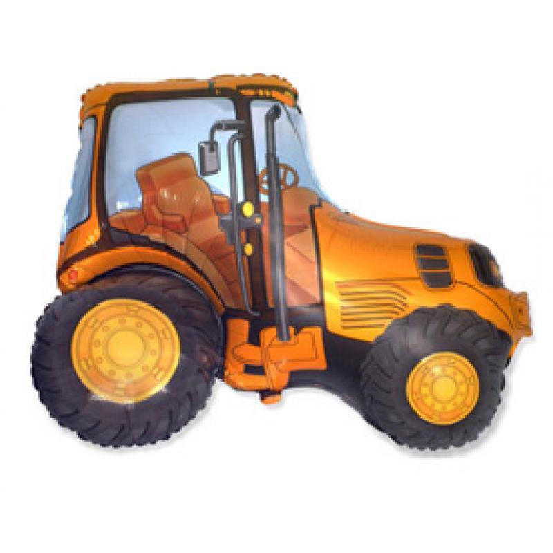 Шар фигурный Flexmetal Трактор 901681 оранжевый