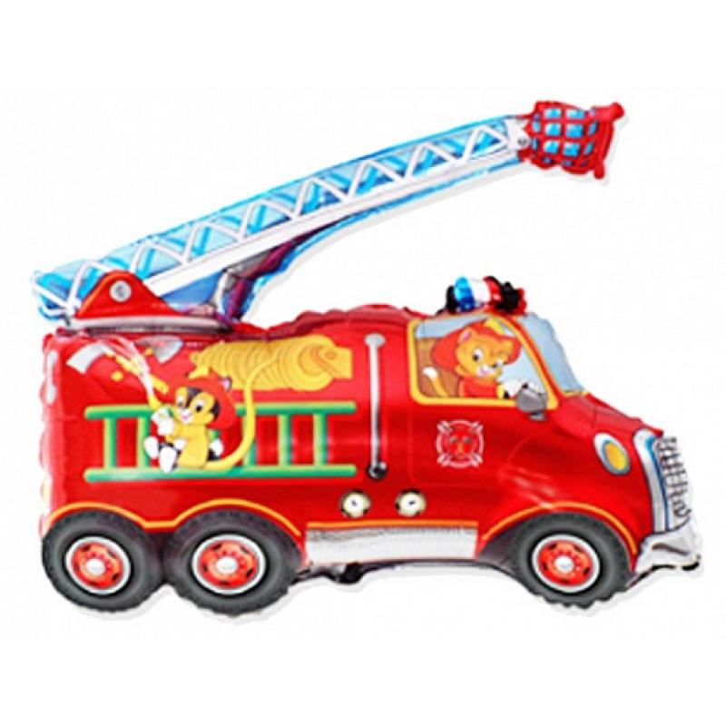 Шар фигурный Flexmetal Пожарная Машина 901696