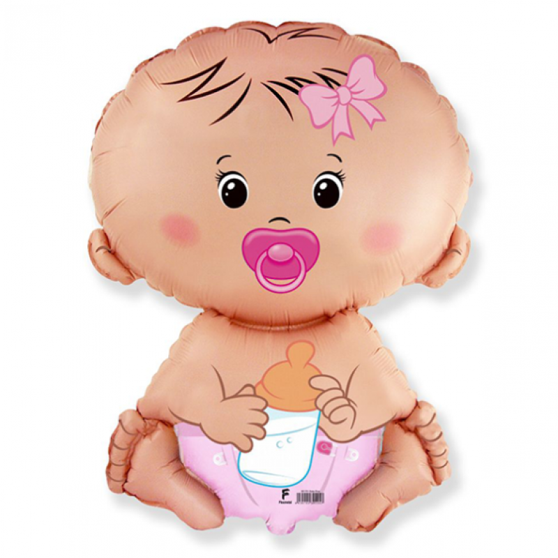 Шар мини-фигура Flexmetal Малыш Девочка
