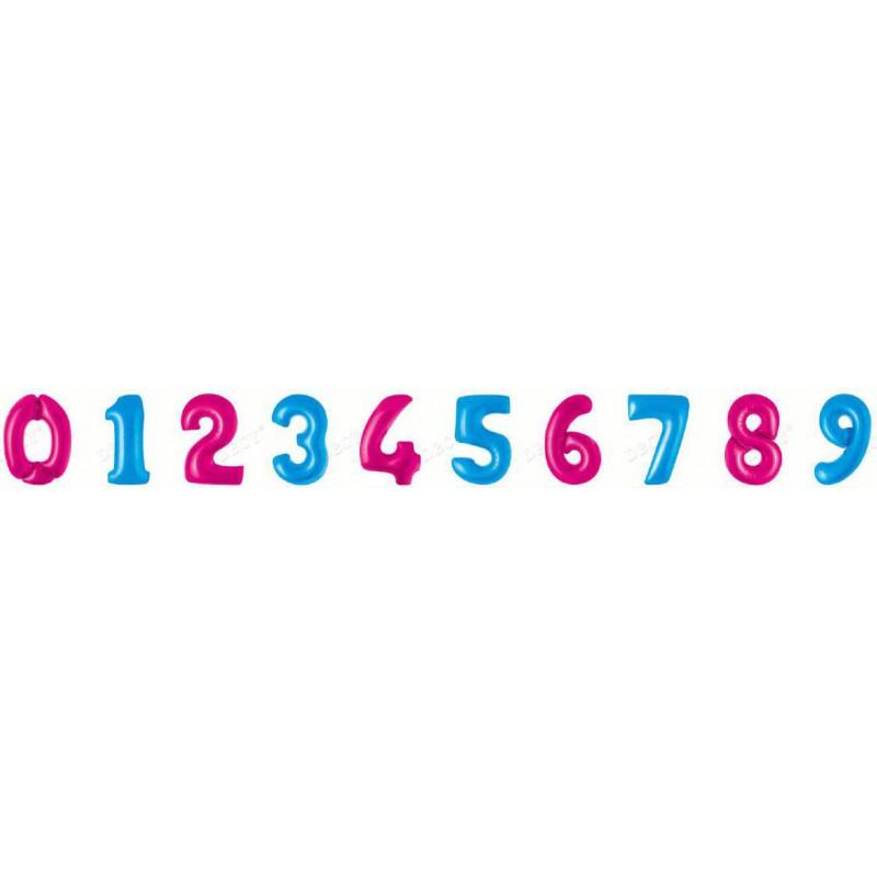 Цифры голубой 45 см. Фигура Фольга