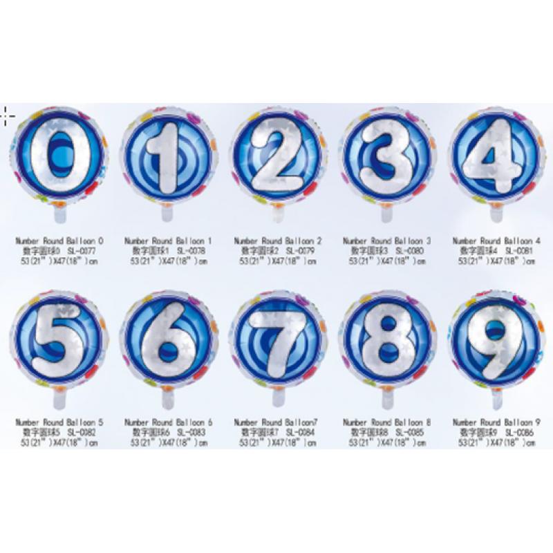 Цифры круглые 1 Таблетка Фольга