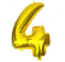 Цифра золото 4 Фигура Фольга