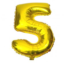 Цифра золото 5 Фигура Фольга