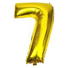 Цифра золото 7 Фигура Фольга