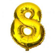 Цифра золото 8 Фигура Фольга