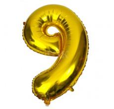 Цифра золото 9 Фигура Фольга