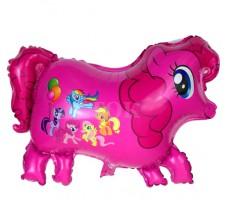 Пони розовый Фигура Фольга