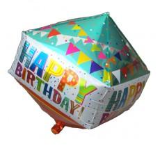 Кубик Happy бирюза оранжевый Фигура Фольга