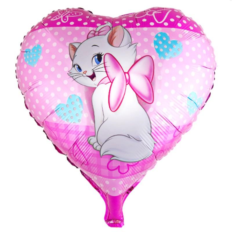 """Сердце """"Кошка Мэри"""" на розовом фоне"""