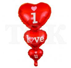"""""""I love you"""" из 3 сердец большое 807-2"""