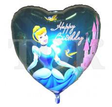 Сердце С днем рождения принцесса 36 дюймов