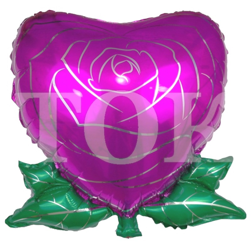 Сердце роза Фольга