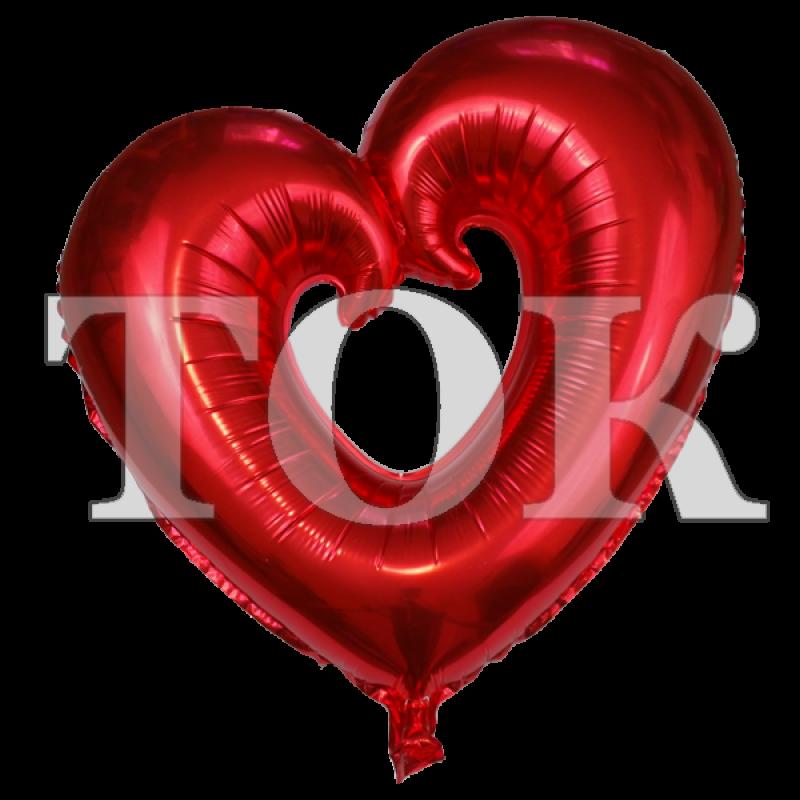 Сердце фигурное красное большое