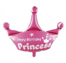 Корона 3 розовая Фигура фольга