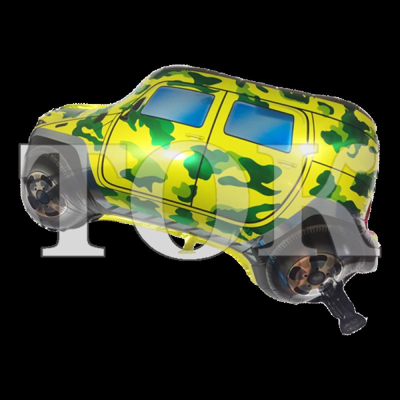 Джип камуфляж зеленый Фигура Фольга