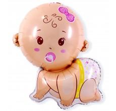 Малыш девочка 5 Фигура Фольга