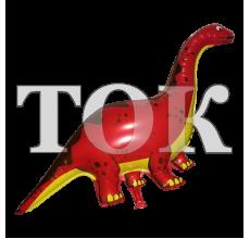Динозавр красный Фигура Фольга