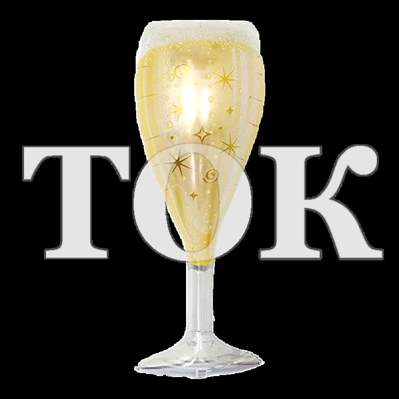 Бокал шампанского большой 2 Фигура фольга