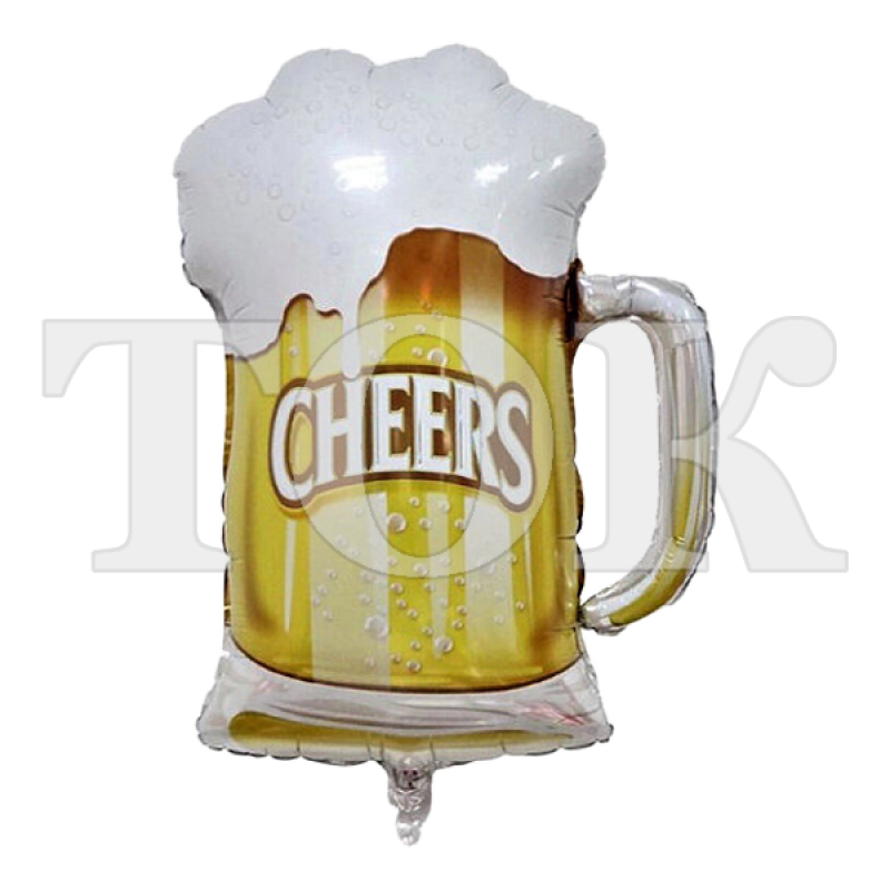 Бокал пива Фигура фольга