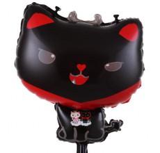 Кошка черная 2 Фигура Фольга