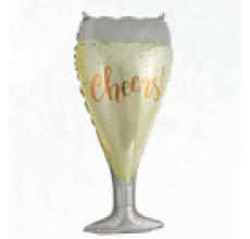 Бокал шампанского большой 3 Фигура фольга