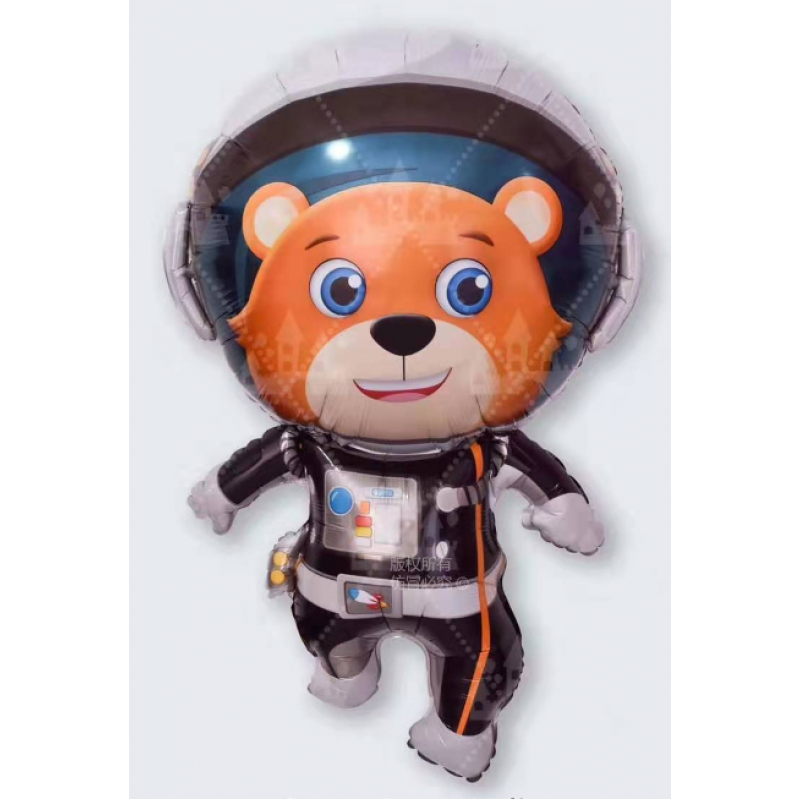 Космонавт медведь Фигура Фольга