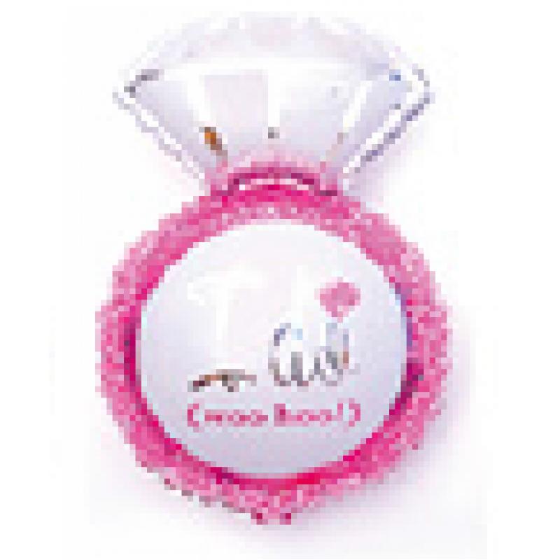 Кольцо 6 розовое Фигура Фольга