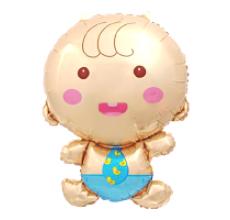Малыш мальчик 3 Фигура Фольга