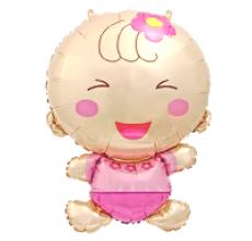 Малыш девочка 3 Фигура Фольга