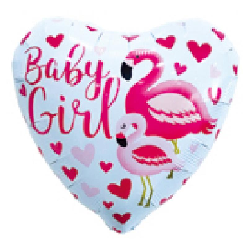 Baby Girl 2 Сердце Фольга