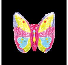 Бабочка розовая Фигура Фольга