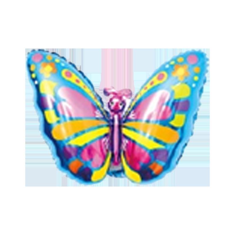 Бабочка синяя Фигура Фольга Под палочку