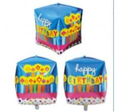 Куб Happy Свечки Фигура Фольга