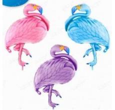 Фламинго  фиолетово-розовый Фигура Фольга