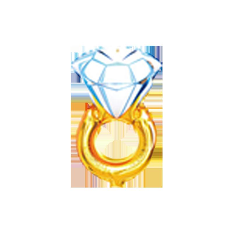 Кольцо с бриллиантом Фигура Фольга Под палочку