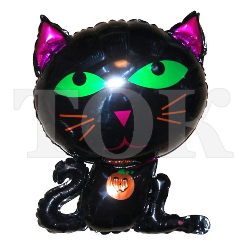 Кошка черная Фигура Фольга